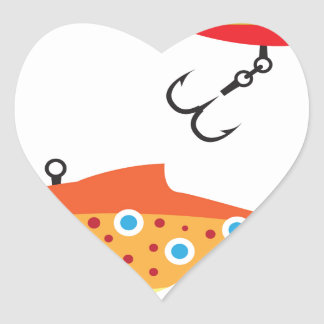 Fishing Lure dots vector Heart Sticker