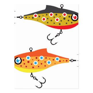Fishing Lure dots vector Postcard