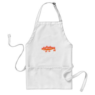 Fishing Lure- Flame design Adult Apron