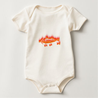 Fishing Lure- Flame design Baby Bodysuit