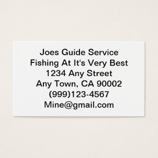 Fishing Lure / Guide Service Business Card