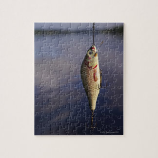 fishing lure in front of water jigsaw puzzle