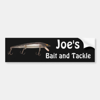Lures bumper stickers car stickers zazzle for Fishing car stickers