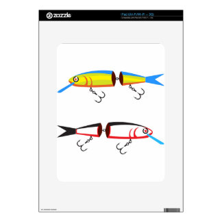 Fishing lure sections plastic tail vector decals for the iPad