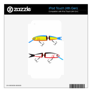 Fishing lure sections plastic tail vector iPod touch 4G decals