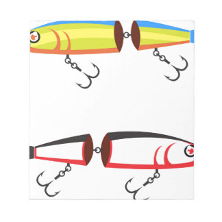 Fishing lure sections plastic tail vector notepad