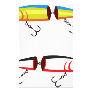 Fishing lure sections plastic tail vector stationery