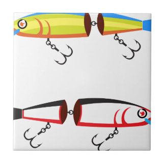 Fishing lure sections plastic tail vector tile