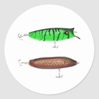 Fishing Lures Classic Round Sticker