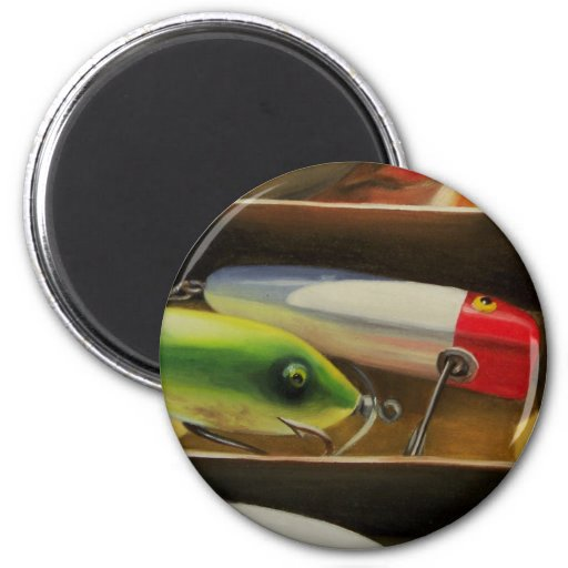 Fishing lures magnet zazzle for Fishing magnets for sale
