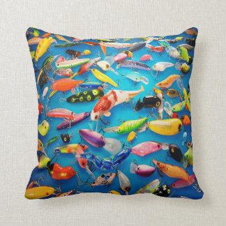 Fishing Lures Throw Pillow