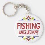 Fishing Makes Life Happy Keychains