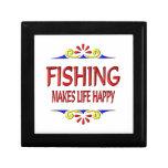 Fishing Makes Life Happy Trinket Box