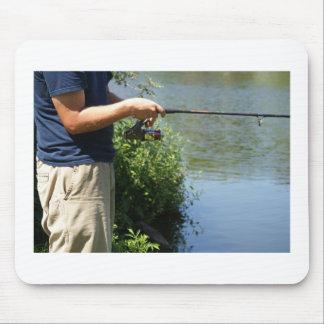 Fishing man mouse pad