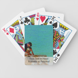 fishing man quilted blue bicycle playing cards