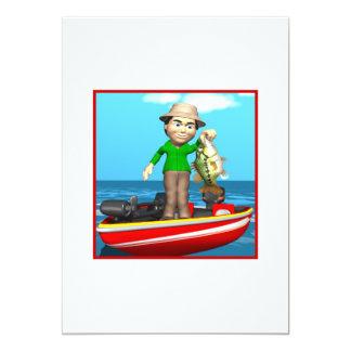 Fishing Master 5x7 Paper Invitation Card