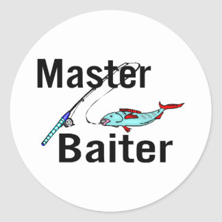 Fishing Master Baiter Classic Round Sticker