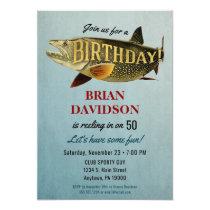 Fishing Mens Birthday Party Invitation Fisherman