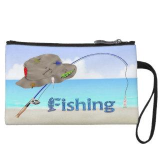 Fishing Mini Clutch Wristlets
