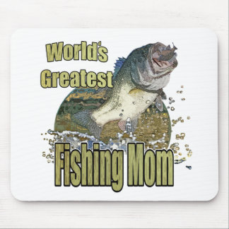 Fishing Mom Mouse Pad