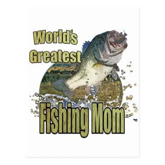 Fishing Mom Postcard