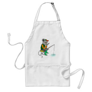Fishing Mouse Adult Apron