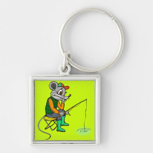Fishing Mouse Key Chains