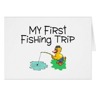 Fishing My First Fishing Trip Greeting Card