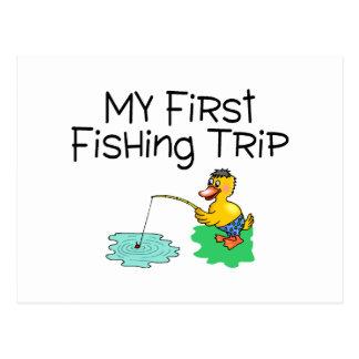 Fishing My First Fishing Trip Postcard