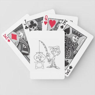 Fishing N Fishbowl Bicycle Playing Cards