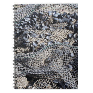Fishing Net And Shells Print Notebook