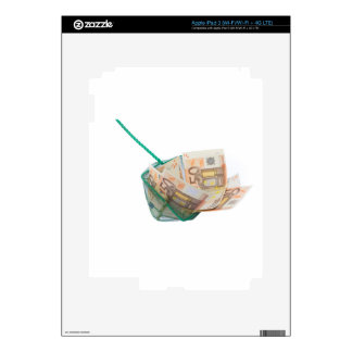 Fishing net filled with euro notes iPad 3 decals