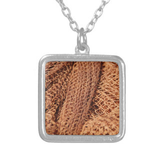 Fishing Net Silver Plated Necklace
