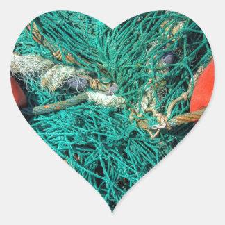 Fishing Net Heart Sticker