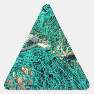 Fishing Net Triangle Sticker