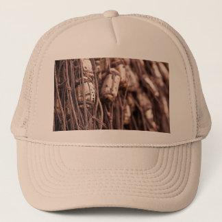 Fishing net trucker hat