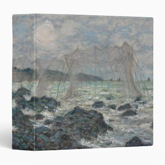 Fishing Nets at Pourville by Claude Monet Vinyl Binder