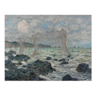 Fishing Nets at Pourville by Claude Monet Postcard