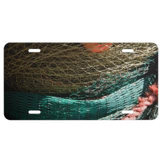 Fishing nets license plate