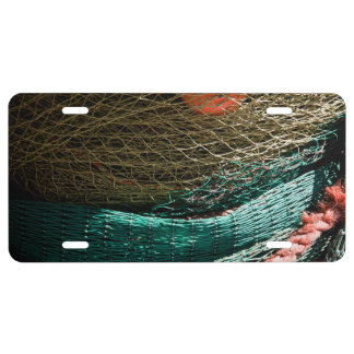 Fishing nets license plate