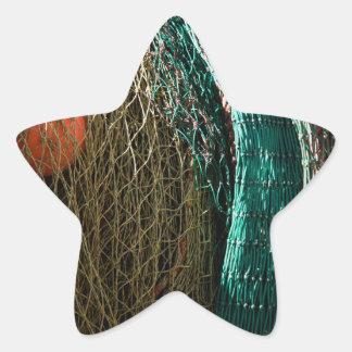 Fishing nets star sticker