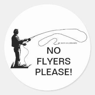 Fishing No Flyers Please Sticker