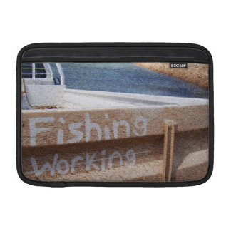 Fishing NOT Working beach sky jetty pier ute MacBook Sleeve