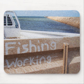 Fishing NOT Working beach sky jetty pier ute Mouse Pad