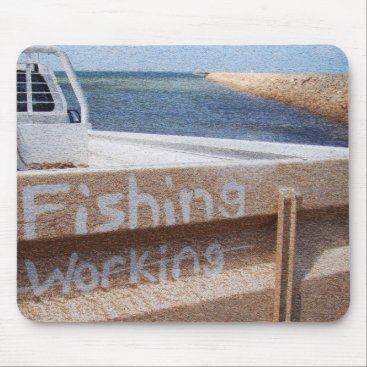 Beach Themed Fishing NOT Working beach sky jetty pier ute Mouse Pad