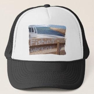Fishing NOT Working beach sky jetty pier ute Trucker Hat