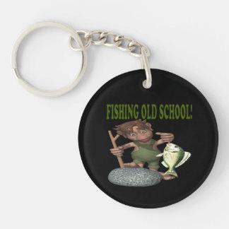 Fishing Old School Keychain