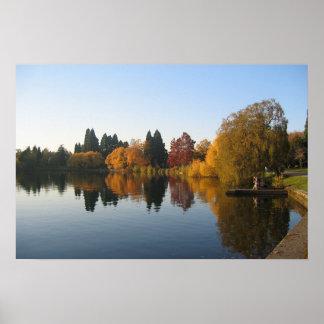 Fishing on Green Lake Poster