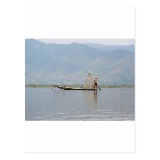 Fishing on Inle Lake Postcard