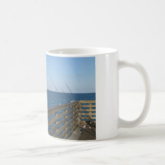 Fishing on Lake Worth Pier Mug